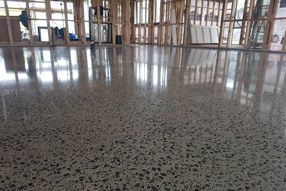 Concrete floor grinding polishing sealing acid wash for Polished concrete floors nz